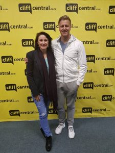 Interviewed by Cliff-Central-shock-jock-Trish-Jenkins-in-South-Africa