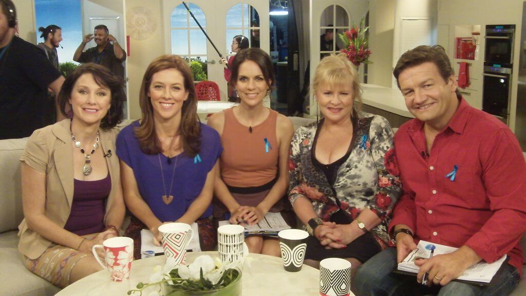 """National TV. On the set of """"The Circle"""" Australia's answer to """"The View""""."""
